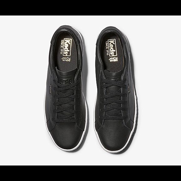 Keds Shoes   Black Ace Leather Sneakers